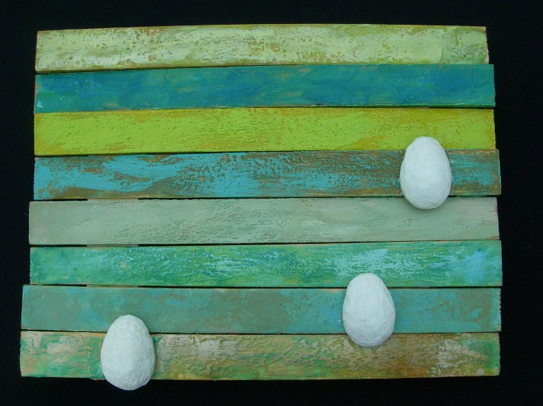 Striped Eggs by Annie Abdalla